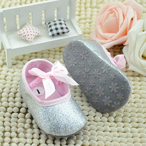 Tefamore Zapatos De Bebé De Glitter Zapatillas Anti-slip Soft Sole Niñito plateado