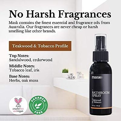 Mask Toilet Spray, Teakwood & Tobacco, 2-Ounce, Deodorizer Bathroom