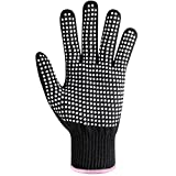heat resistant gloves hair - BEAUTING Heat Resistant Glove for Hair Styling, Professional Silicone Non-Slip Heat Resistance Blocking Gloves for Curling, Flat Iron and Curling Wand, Fit All Hand Sizes-1PC
