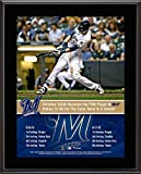 """Christian Yelich Milwaukee Brewers 10.5"""" x 13"""" Fifth Player with Two Cycles in One Season Sublimated Plaque"""