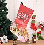 Zhahender Party Decoration Christmas Stocking Decoration Christmas Supplies Hotel Bar Party Shopping Mall Pendant(C)