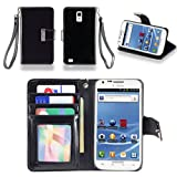 IZENGATE(TM) Executive Premium PU Leather Wallet Flip Case Cover Folio for Samsung Galaxy S2 SII T989 Hercules T-Mobile (Black)
