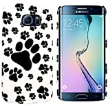 Slick Accessories ® Animal Paw Print Gel Skin Case / Cover for Samsung Galaxy S6 Edge + FREE Screen Protector
