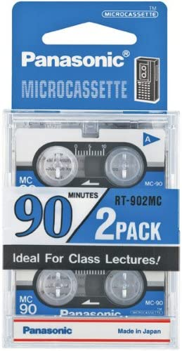 PANASONIC 90 MINUTE MICRO CASS TAPE 2 PACK