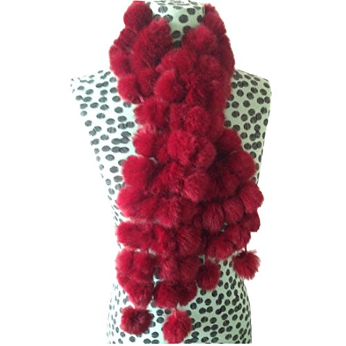 HP95(TM)Women Winter Imitate Lady Casual Fur Scarves Fur Ball Velvet Rabbit Long Style (B)