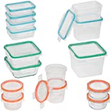 Snapware 30-Piece Total Solution Food Storage Set, Glass and Plastic