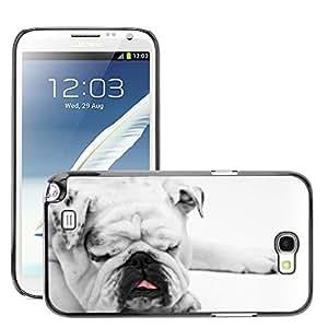 Hot Style Cell Phone PC Hard Case Cover // M00108084 Dog Bulldog Sleeping Resting Animal // Samsung Galaxy Note 2 II N7100