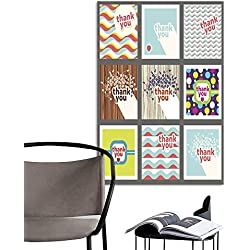 "UHOO Canvas Wall Art Painting Thank You Card Design Template Set Retro Style.jpg Nature Canvas Artwork Home Office Wall 24""x32"""