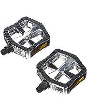 Point City-/Comfort pedalen aluminium krabbedovertrek, zilver/zwart, 110,3 x 95,1 x 28,9 mm