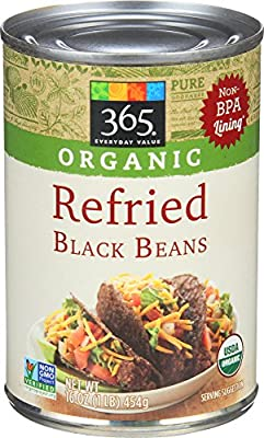 365 Everyday Value, Organic Refried Black Beans, 16 Ounce