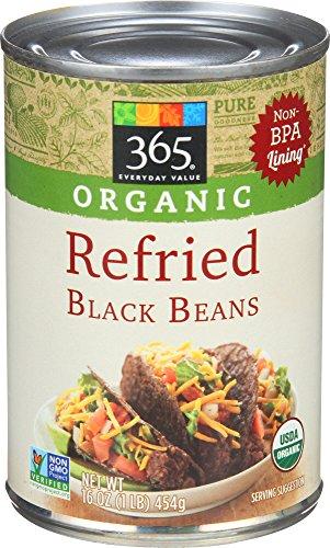 365 Everyday Value, Organic Refried Black Beans, 16 ()