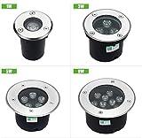Cold White, 18W : 1W/3W/5W/6W/7W/9W/12W/15W/18W LED Outdoor Ground Garden Path Floor Underground Buried Yard Lamp Landscape Light AC 85-265V IP67
