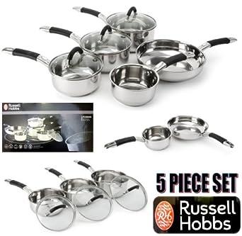 Amazon.com: Russell Hobbs 5pc Fusion sartén Juego Ollas ...