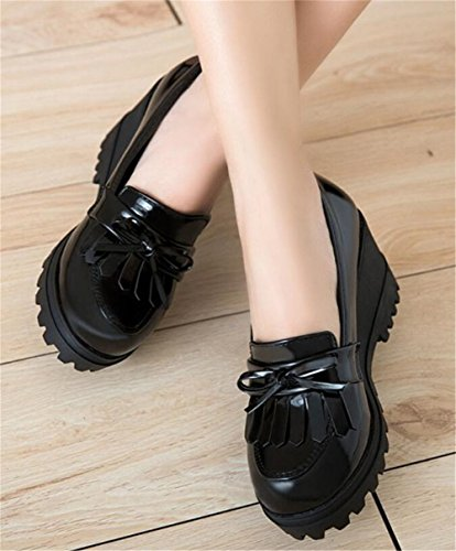 Pictures of Wedge Oxfords Shoes Women Girls Tassels Lolita 4