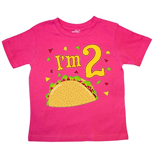 inktastic - Im Two- Taco Birthday Party Toddler T-Shirt 2T Hot Pink -