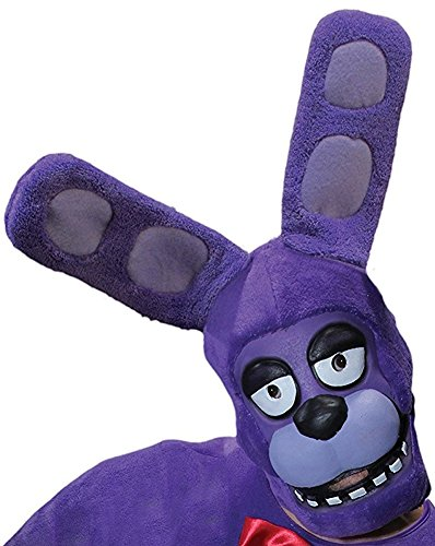 Rubie's Costume Co. Men's Five Nights At Freddy's Bonnie 3/4 Mask, As Shown, One Size (Halloween Costumes Freddy)