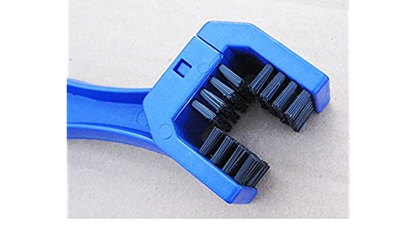 LIGHTKOREA 2Pcs Motorcycle Bike Chain Cleaning Brush Tool Multi-purpose for All Bikes Great Brush Action