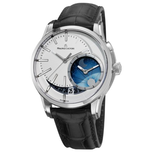 Maurice Lacroix Men's PT6118-SS001130 Pontos Silver Moonphase Dial Watch