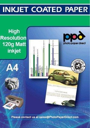 Carta fotografica con rivestimento opaco a getto dinchiostro 100 fogli PPD-54-100 PPD A4 120G