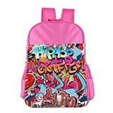 Hip Hop Street Culture Spray Children School Backpack Carry Bag For Teens Boy Girl