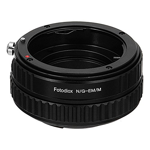 Fotodiox Pro Lens Mount Adapter - Nikon F Mount G-Type D/SLR Lens to Canon EOS M (EF-M Mount) Mirrorless Camera Body with Macro Focusing Helicoid
