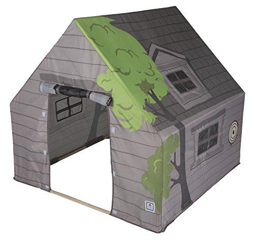 "Pacific Play Tents 69790 Kids Tree House Hide-Away Wood Pole Frame Playhouse, 43"" x 43"" x 45"""