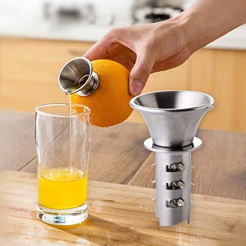 Squeezers Reamers - 1pc Manually Squeezer Lemon Juicer Pourer Screw Oranges Juice Maker Fresh Citrus Gadget Stainless - Steel P20 Juicer Pro Juicer Huawei Manual Lemon Tool Stainless Lemon Scr