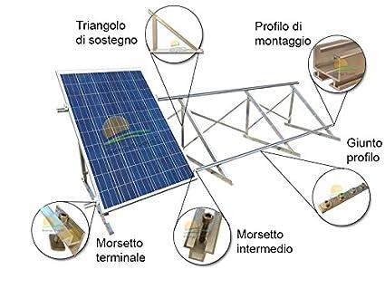 Pannelli Fotovoltaici Raffreddati Ad Acqua.Kit Struttura Di Montaggio Per Pannelli Fotovoltaici 3 Kw Su Tetto