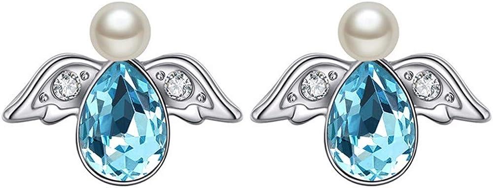 aimaoer Pendientes Creativos De La Personalidad De Dibujos Animados De Moda Ángel Muñeca Pendientes De Cristal Niña Salvaje Pendientes De Perlas