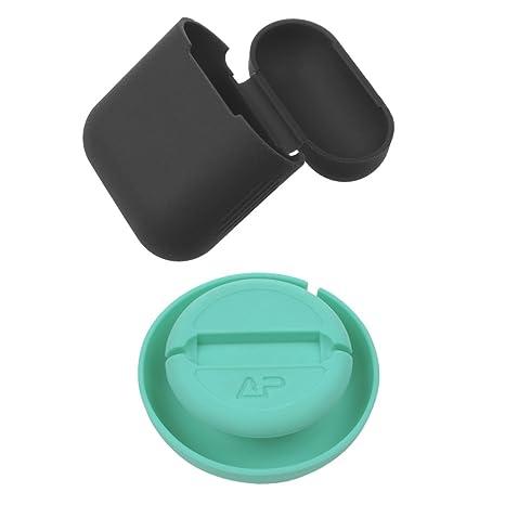 Gazechimp Estuche de Protección para Auriculares Inalámbricos Silicona + Cargador Portátil Soporte Muelle Sensaciones Durable