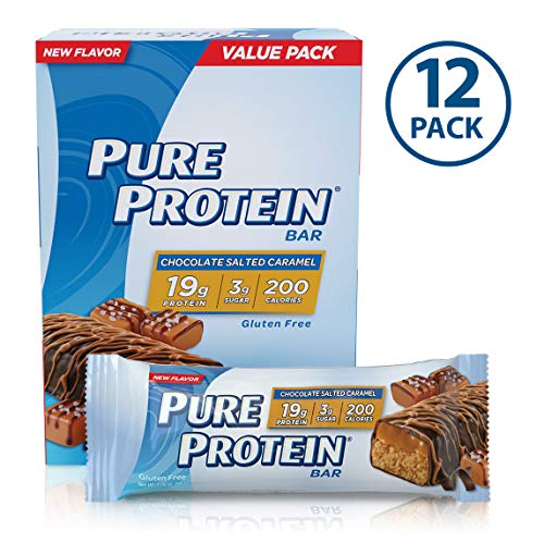 Pure Protein Bars, Healthy Snacks to Support Energy, Low Carb, Gluten Free, Chocolate Salted Caramel, 1.76 oz (12 Count)