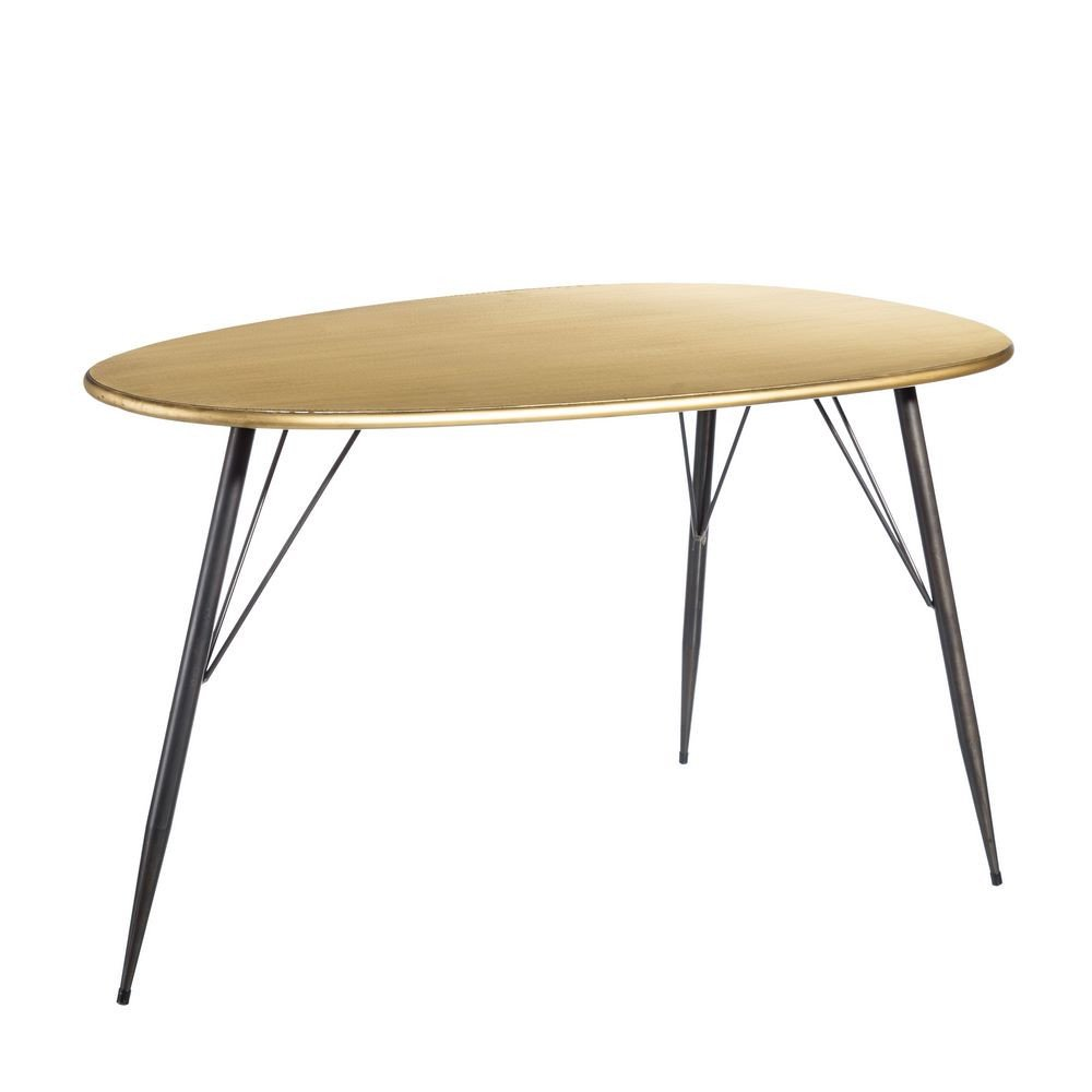 Table basse de salon oro-negro Metal 109 -50 x 59 x 49 -50 cm