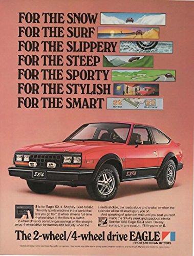 Magazine Print Ad: Red 1983 AMC Eagle SX-4,