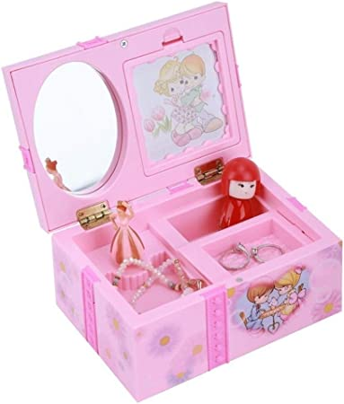 Caja de Musica Joyero de Color Rosa Music Girl Musical Box Rosada de la Bailarina Alicia en el país de música joyero Cajas de Regalo for niñas (Color : C -18cm): Amazon.es: