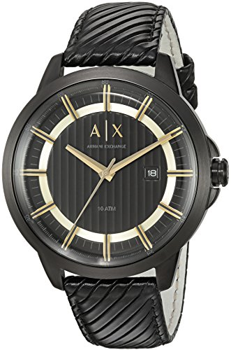 Armani-Exchange-Mens-AX2266-Black-Leather-Watch
