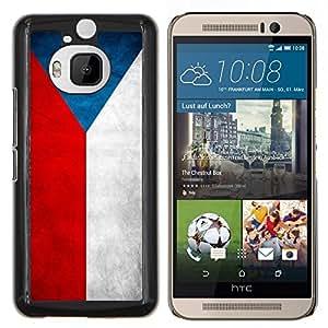 EJOOY---Cubierta de la caja de protección para la piel dura ** HTC One M9Plus M9+ M9 Plus ** --Nación Bandera Nacional País República Checa