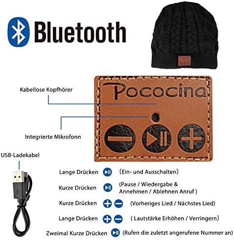 Android ideal zum H/ände Free Call Gym Musik H/ören Laufen Skaten Wandern Geschenk Unisex Stereo Kopfh/örer und Mikrofon ULTRICS Bluetooth Beanie M/ütze V5.0 Wireless Winter Hut Kompatibel mit iPhone