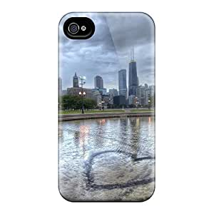 Perfect Fountain Heart In Chicago Hdr Cases Covers Skin For Iphone 6plus Phone Cases