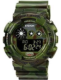 Boys Big Face Camouflage LED Sport Watch, Waterproof...