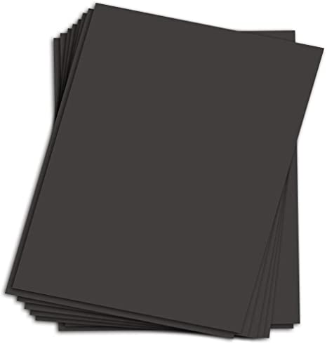 Black Chipboard 4 x 6 Inches Cardboard Medium Weight Chipboard Sheets 10 Per Pack