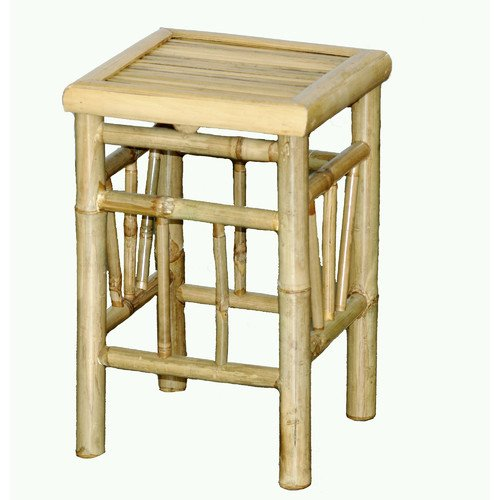 - Outdoor Backless Bamboo Bar Stool, Made Of Premium-Quality Bamboo, Presented In Natural Finish