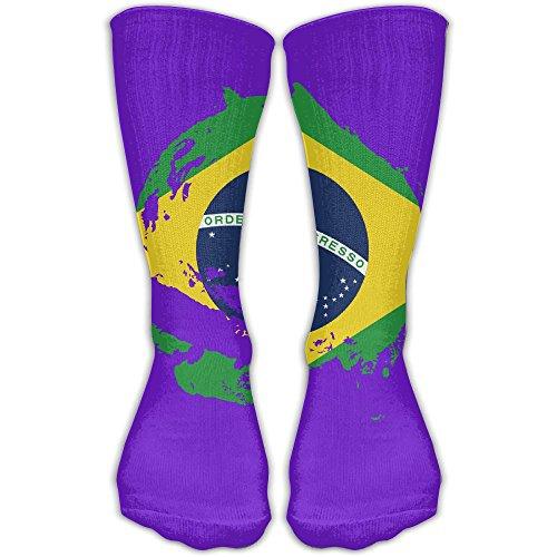 DaCrew Brazil Flag Tornado Unisex Novelty Crew Socks Ankle Dress Socks Fits Shoe Size 6-10