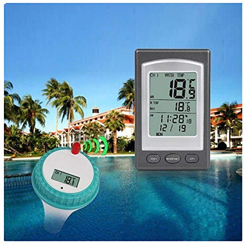FORNORM Wireless Floating Thermometer with Outdoor Remote Thermometer Swimming Pool