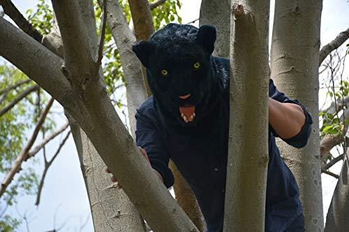 ZITEZHAI-Animal mask Moving Mouth Adult Mask Standard-Panther Mask (Color : Black, Size : 2525) -