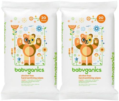 Babyganics Alcohol Free Hand Sanitizing Wipes - Soft Pack -
