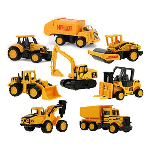 Coolplay-Diecast-Metal-Plastic-Mini-Construction-Vehicle-Engineering-Car-Artificial-Model-Toy-Pack-of-8