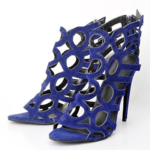 Absatz Kolnoo Knöchelriemen hohle Schuhe Sandalen stilvolle Peep toe 110mm Damen Faschion rrqxgZ8