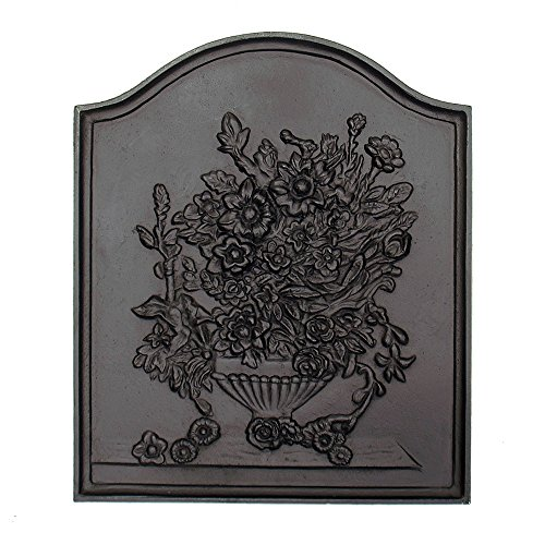 Minuteman International Bouquet Cast Iron Fireback by Minuteman International
