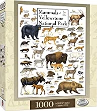 MasterPieces Educational Posters Art, Linen Jigsaw Puzzle, Mammals of Yellowstone National Park, 1000 Pieces