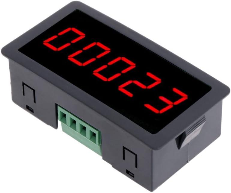 "DC 12-24V 5 Digit LED Panel Counter Meter Up Plus Totalizer Red 0-99999 0.56/"""